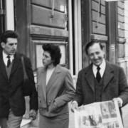 Germano Beringheli con i coniugi Rivabella