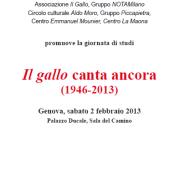 20013 - Convegno a Genova, Palazzo Ducale
