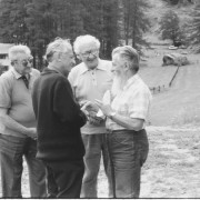 1989 - Umberto Vivarelli con il fratello Alfredo, Michele Do e Gino Piccio